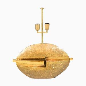 Tischlampe aus vergoldeter Bronze von Pragos, 1970er