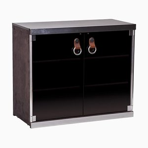 Black Cabinet Attributed to Guido Faleschini for Hermès, 1970s