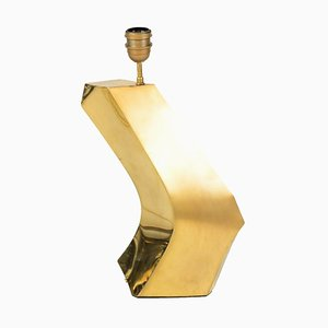 Boomerang Table Lamp in Gilt Brass, 1970s