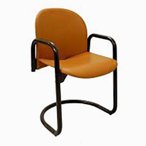 Italian Dialogo Leather Chair by Tobia & Afra Scarpa for B&B Italia, 1980s