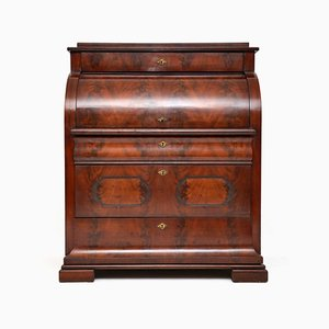 Antique Flame Mahogany Secretaire