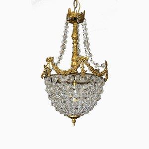 Vintage Empire Style Italian Crystal Chandelier