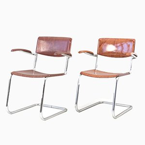 German Cantilever Armchairs from Bremshey & Co., 1960s, Set of 2