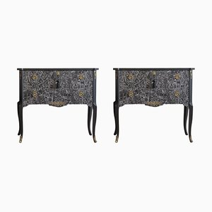 Vintage Tribeca Commodes, Set of 2