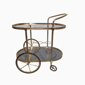 Glass and Metal Serving Trolley, 1970s