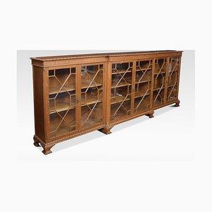 Antique Oak Breakfront Shelf