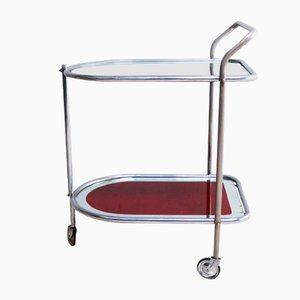 Art Deco Italian Glass Trolley, 1950s