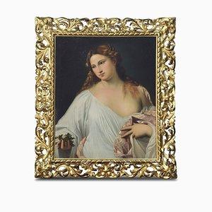 Antique Flora Oil Painting