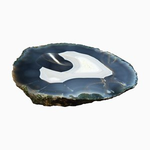 Large Brutalist Crystallized Agate Ashtray, 1960s