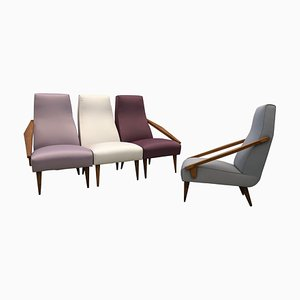 Lounge Chairs by Gio Ponti, Italy, 1950s, Set of 4