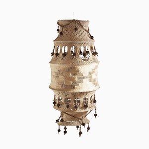 Böhmischer Kronleuchter aus Holz und Häkeln, 1960er