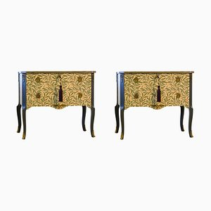 Vintage William Morris Louis XV Commodes, Set of 2