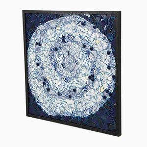 Einzigartiges Spiralen Mosaik 01 von der brasilianischen Künstlerin Mariana Lloyd