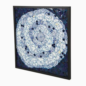 One-of-a-Kind Spiral Mosaic 01 by Brazilian Artist Mariana Lloyd