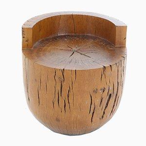 Taburete Tambor Unique de madera dura Pequi de Hugo França, Brazil
