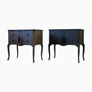 Vintage Louis XV Style Chest of Drawers, Set of 2
