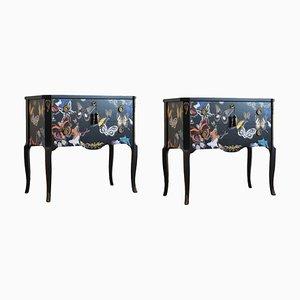 Gustavianische Vintage Kommode im Louis XV Stil, 2er Set