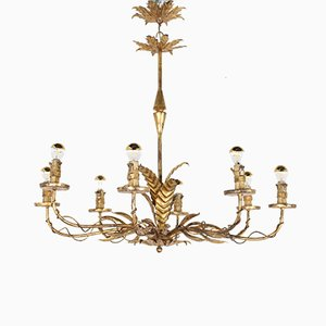 Wrought Iron Chandelier in the Style of Kögl, 1960s