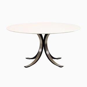Mesa de comedor modelo T69 Mid-Century redonda de Osvaldo Borsani & Eugene Gerla para Tecno