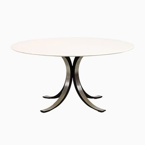 Mid-Century Round Model T69 Dining Table by Osvaldo Borsani & Eugene Gerla for Tecno
