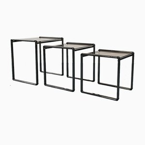 Glass Coffee Tables by Umberto Mascagni, 1970s, Set of 3