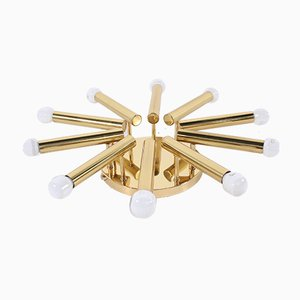 Brass Chandelier by Gaetano Sciolari for Boulanger, 1970s