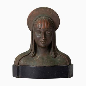 Vintage Art Deco Patinated Bust