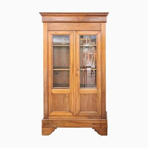 Antique Walnut Bookcase or Display Cabinet, 1850s