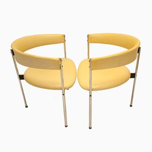 3-Legged Armchairs by Dieter Waeckerlin for Idealheim, 1960s, Set of 6
