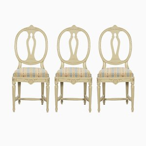 Gustavian Dining Chairs, 1920s, Set of 6