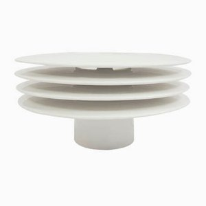 Italian White Ceramic Architectural Table Lamp by Alberto Mantegna for Bosa Srl, 1999