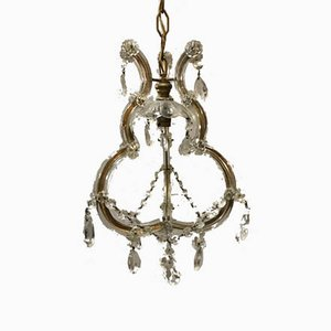 Cut Glass Chandelier, 1920s