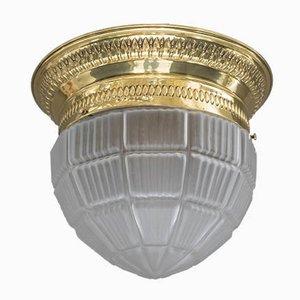 Art Deco Deckenlampe aus Glas, Wien, 1920er