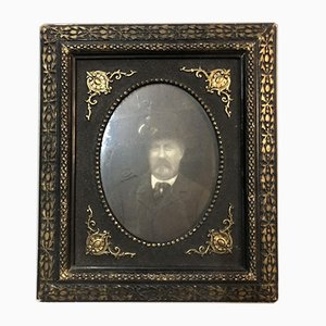 Napoleon III Picture Frame with Photo of the Universal Exhibition in Paris 1889 by E.Dessendier