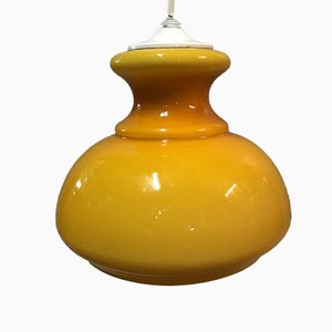 Opaline Orange Ceiling Lamp, 1970s