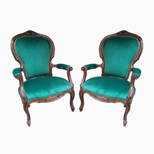 Antique Liberty Lounge Chairs, 1900s, Set of 2