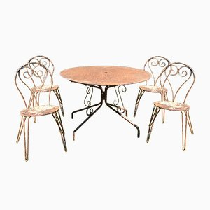 French Garden Furniture, 1950s, Set of 5