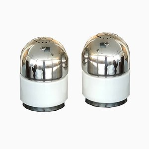 Chrome and Glass Salt & Pepper Table Lamps by Goffredo Reggiani for Reggiani, 1970s, Set of 2