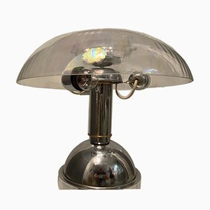 Mid-Century Murano Glas und Chrom Tischlampe, 1970er