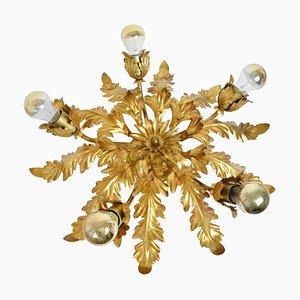 Vintage Italian Hollywood Regency Flower Ceiling Lamp by Hans Kögl