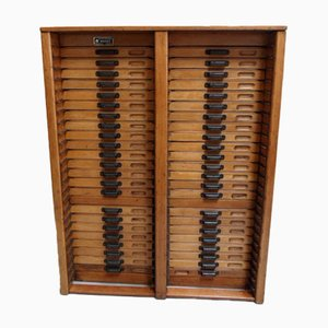 Filing Cabinet with 46 Drawers, 1950s