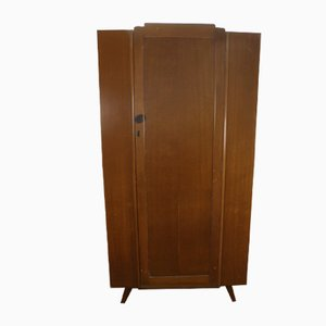 Light Oak 2-Door Wardrobe, 1940s