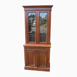 Antique Tall Mahogany Chiffonier Bookcase, 1900s