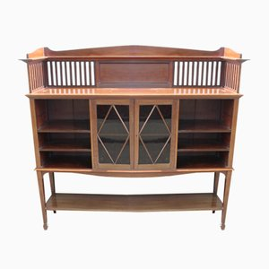 Large Arts and Crafts Mahogany Display Cabinet, 1920s