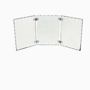 Vintage French Triptych Mirror, 1930s