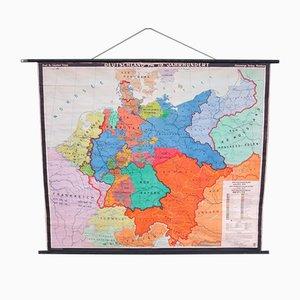 Mapa escolar de Alemania de Flemming Verlag, años 50