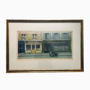Au Bon Bougnat Chez Bebert Lithographie von André Renoux