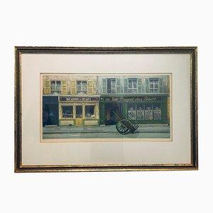 Mid-Century Au Bon Bougnat Chez Bebert Lithograph by André Renoux