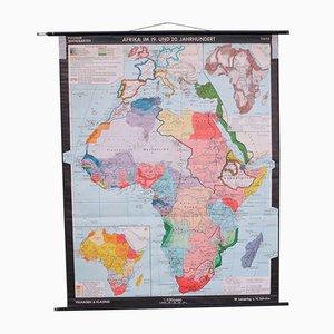 Mappa scolastica dell'Africa di Leisering & Schulze per Velhagen & Klasing, anni '50
