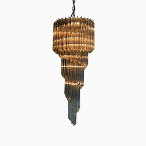 Mid-Century Hollywood Regency Italian 5-Tier Spiral Chandelier